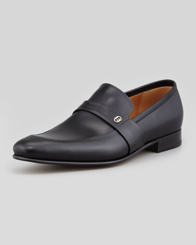 Gucci Faramir Leather Loafer, Black