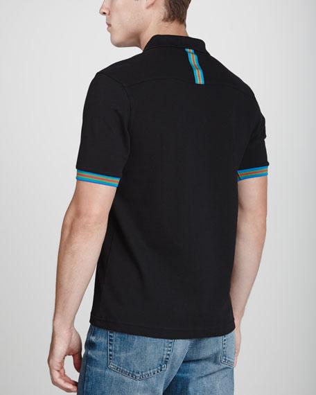 Slim-Fit Polo Shirt, Black