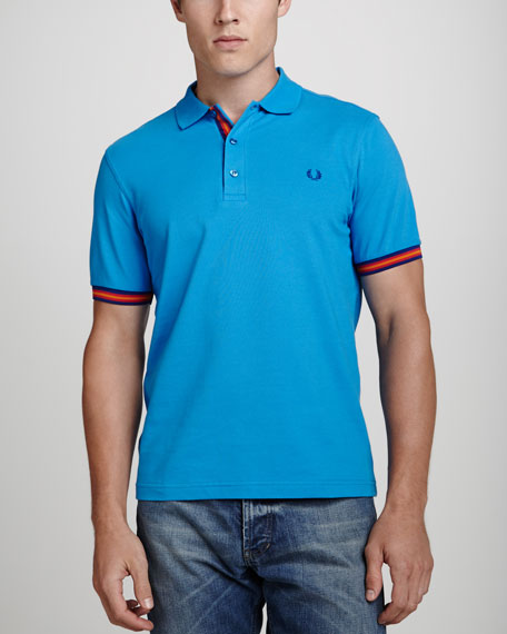 Slim-Fit Polo Shirt, Turquoise