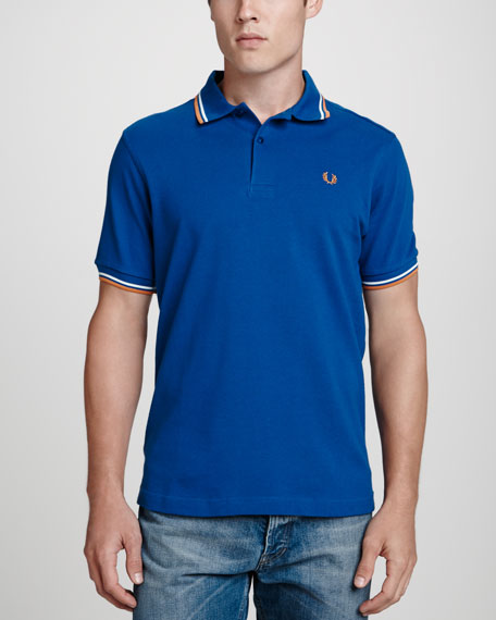 Twin-Tipped Polo Shirt, Cobalt