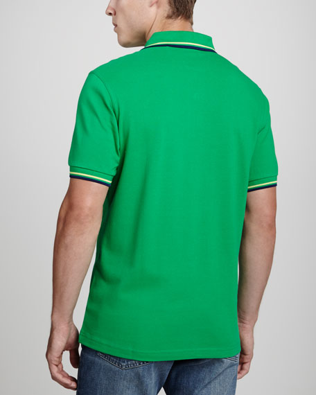 Twin-Tipped Polo Shirt, Kelly Green