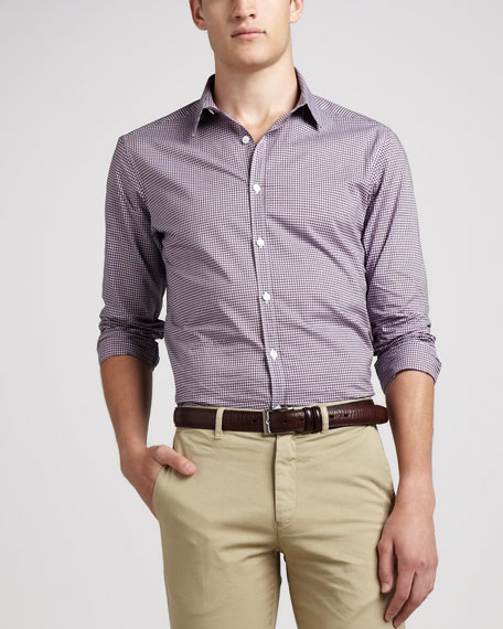 Zack Deliner Check Shirt, Plum
