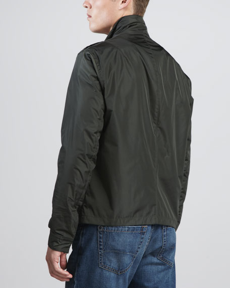 Waterproof Cargo Jacket, Green