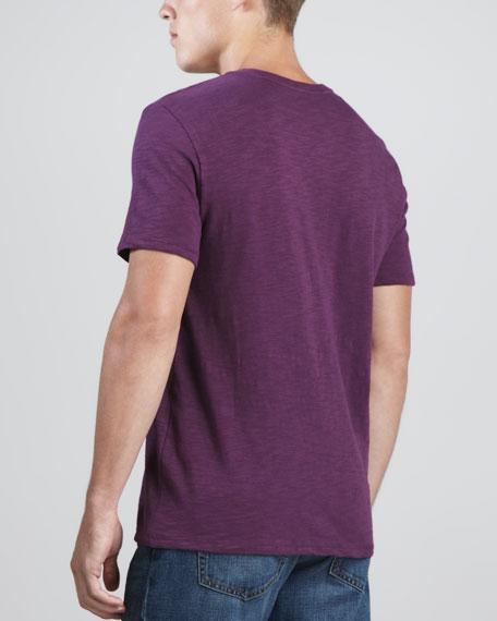 V-Neck Slub Tee, Purple