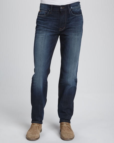 Classic Straight-Leg Fit Jeans, Dark Blue