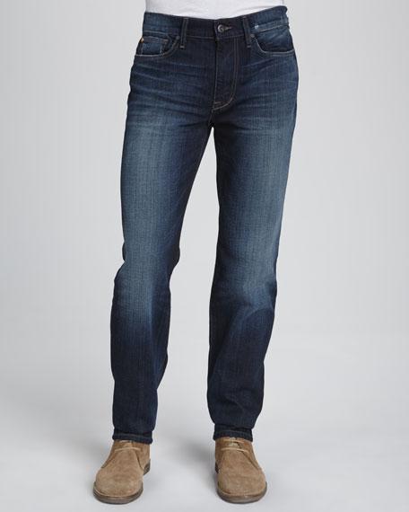 Classic Straight-Leg Fit Jeans, Dark Blue