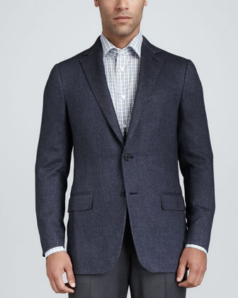 Silk/Cashmere Basketweave Sport Coat