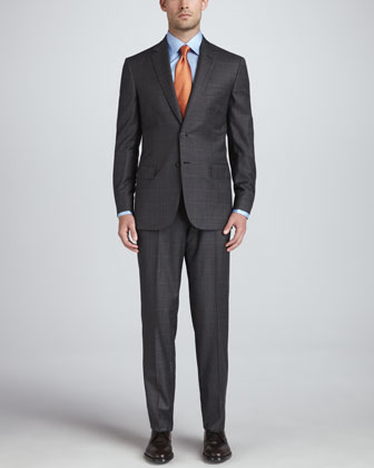 Glen Plaid Suit, Gray