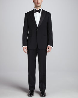 Armani Collezioni Single-Breasted Peak-Lapel Tuxedo