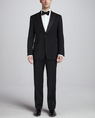 Armani Collezioni Single-Breasted Peak-Lapel Tuxedo