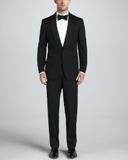 Ermenegildo Zegna Satin-Shawl-Collar One-Button Tuxedo