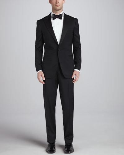 Ermenegildo Zegna Peaked-Lapel One-Button Tuxedo