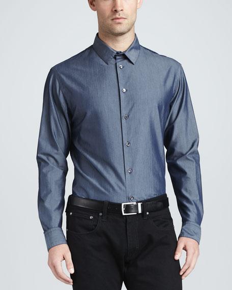 Chambray Long-Sleeve Sport Shirt