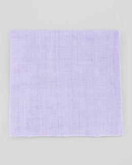 Neiman Marcus Linen Pocket Square, Lilac
