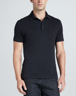 Ralph Lauren Black Label Patch-Pocket Polo, Navy