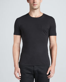 Ralph Lauren Black Label Pocket Crewneck Tee, Black