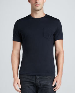 Ralph Lauren Black Label Pocket Crewneck Tee, Navy