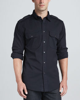 Ralph Lauren Black Label Casual Military Shirt, Navy