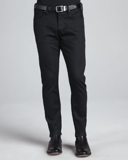 Ralph Lauren Black Label Straight-Fit Denim Jeans, Black