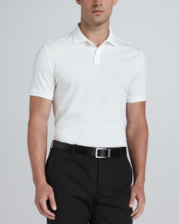 Ralph Lauren Black Label Signature Mesh Polo, White