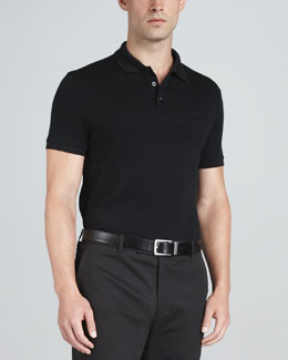 Ralph Lauren Black Label Mesh Polo, Black