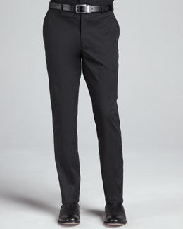 Ralph Lauren Black Label Stretch Twill Pants, Black
