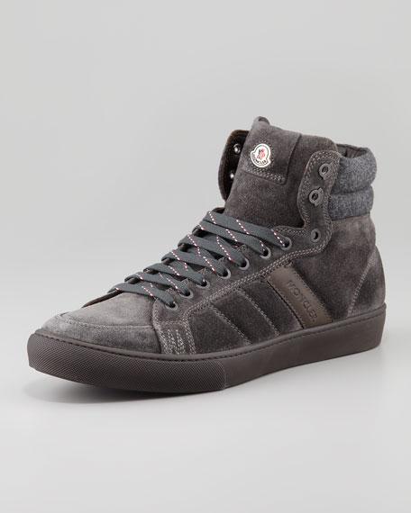 Lyon Suede High-Top Sneaker, Gray