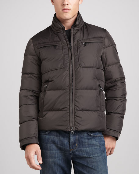 Sauvy Quilted Down Parka, Charcoal