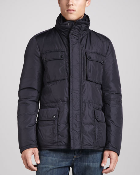 Amazzone Down Field Jacket, Navy