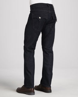 True Religion Ricky Stretch-Denim Jeans, Dark Blue