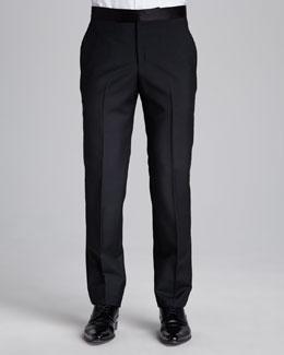 Alexander McQueen Tuxedo Pants, Black