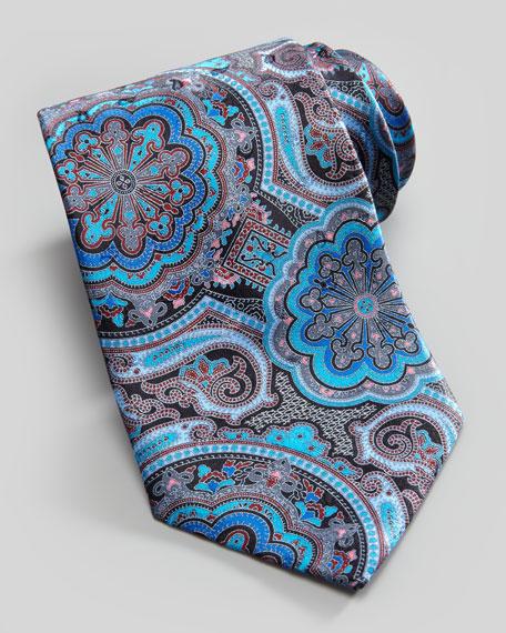 Paisley Silk Tie, Teal