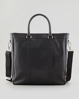 Salvatore Ferragamo Los Angeles Leather Tote Bag, Black