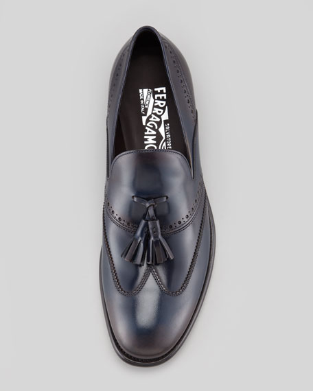 Siriano Wing-Tip Tassel Loafer