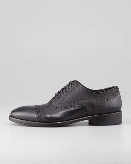 Cap-Toe Leather Oxford, Black