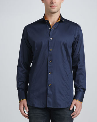 Giorgio-B-03 Long-Sleeve Shirt, Navy