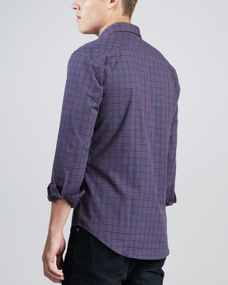 Abriz Plaid Sport Shirt, Purple