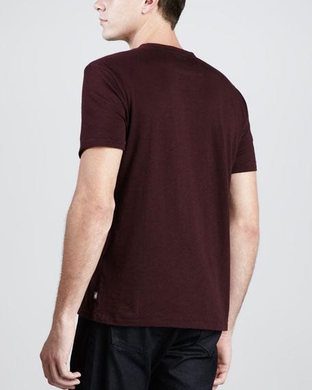 V-Neck Slub T-Shirt, Scarlet