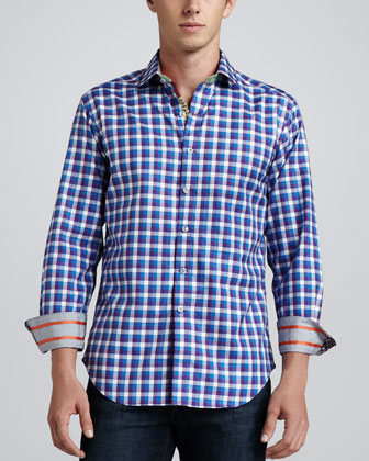 X Collection Weekends Sport Shirt, Purple Multi