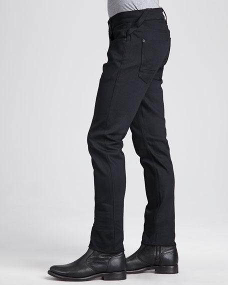 Sartor Raw Black Slim Straight-Leg Jeans