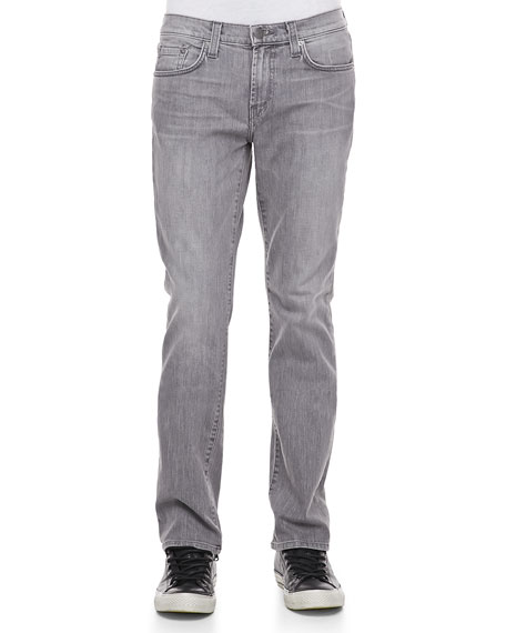 Five-Pocket Slim Fit Jeans, Dark Gray