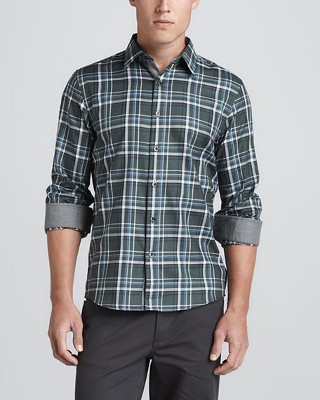 Large-Check Tailored Fit Shirt