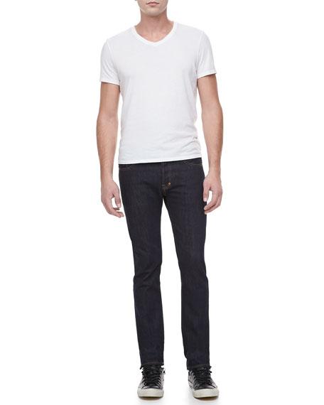 Rambler Slim-Fit Straight-Leg Jeans, 1YR Pressed Rinse