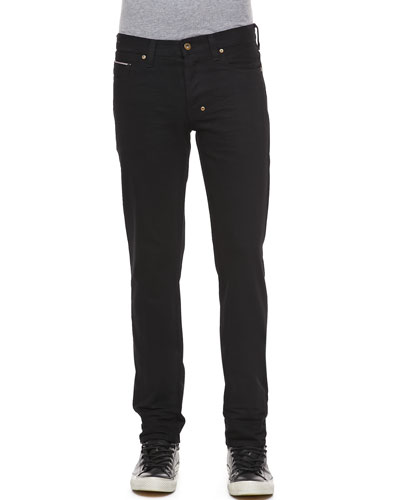 Rambler Slim-Fit Raw Selvedge Jean, Black