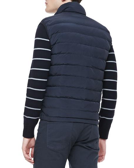 Zip-Front Puffer Vest, Eclipse