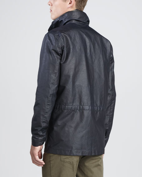 Trictor Resin-Coated Jacket with Hidden Hood