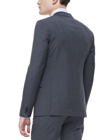 Pindot Sport Coat, Gray