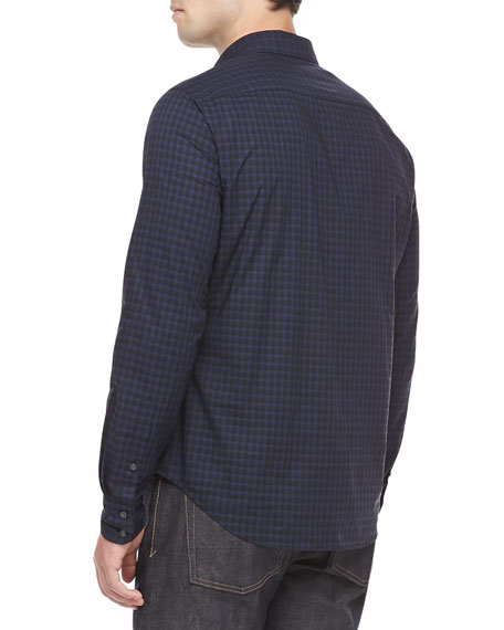 Check Sport Shirt, Blue/Black