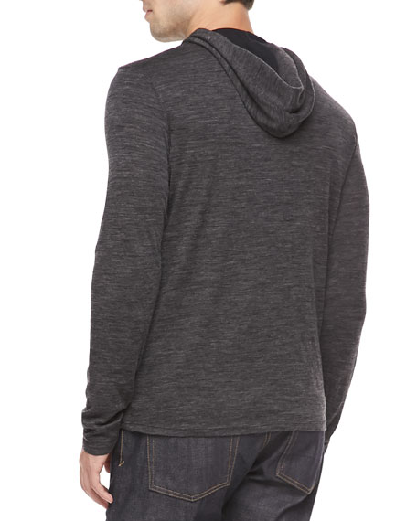 Double-Layer Hoodie, Black