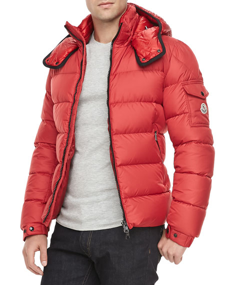 Hymalay Puffer Parka with Hood, Red